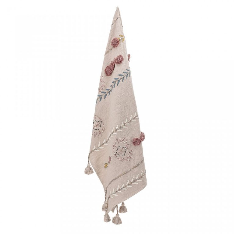 Bloomingville Cotton Throw Rose