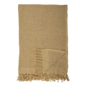 Bloomingville Cotton Throw Blanket Sand