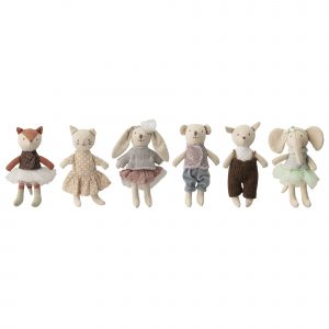 Bloomingville Animal Soft Doll Set of 6