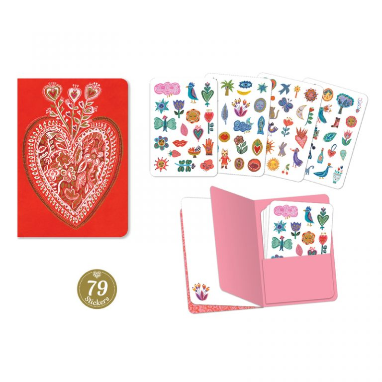 Djeco Aurelia Notebook with 79 Stickers