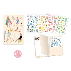 Djeco Tinou Notebook with 120 Stickers