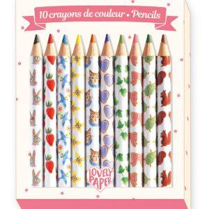 Djeco Aiko Mini Coloured Pencils Set