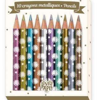 Djeco Chichi Mini Metallic Pencils Set