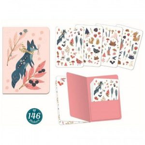 Djeco Lucille Notebook with 146 Stickers