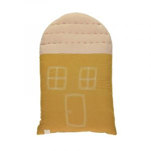 Camomile London Midi House Cushion Ochre Pearl Pink