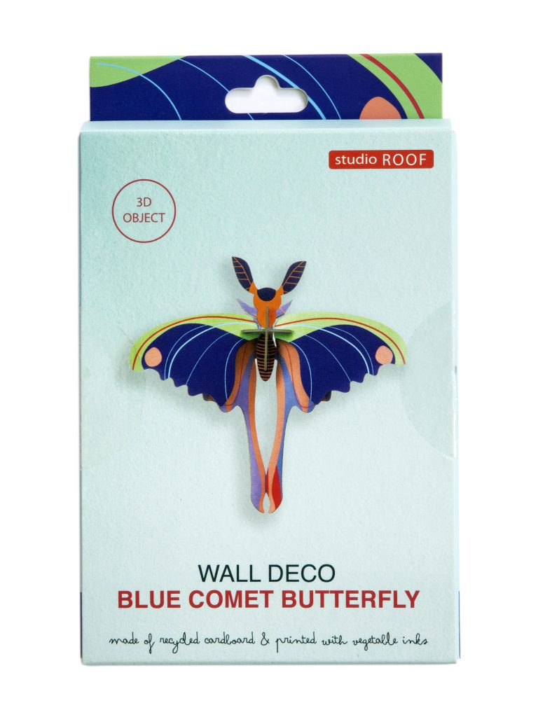 Studio Roof Wall Decoration Puzzle Blue Comet Butterfly