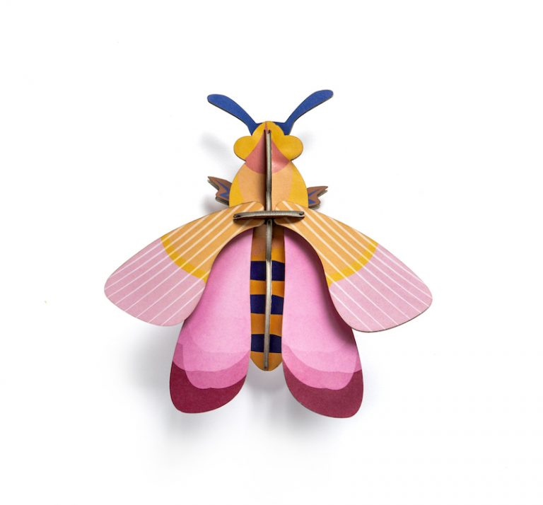 Studio Roof Wall Decoration Puzzle Pink Bee