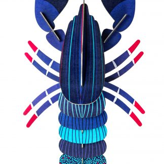 Studio Roof Wall Decoration Puzzle Blue Lobster
