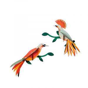 Studio Roof Wall Decoration Puzzle Paradise Bird Obi