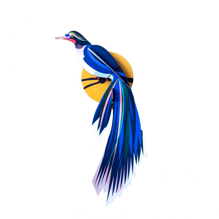 Studio Roof Wall Decoration Puzzle Paradise Bird Flores