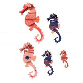 Studio Roof Wall Decoration Puzzle Sea Horses