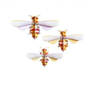 Studio Roof Wall Decoration Puzzle Honey bees Set of 3