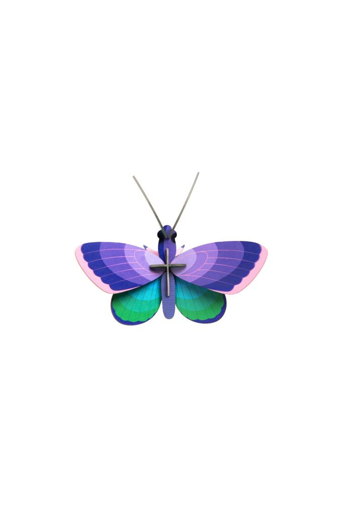 Studio Roof Wall Decoration Puzzle Blue Copper Butterfly