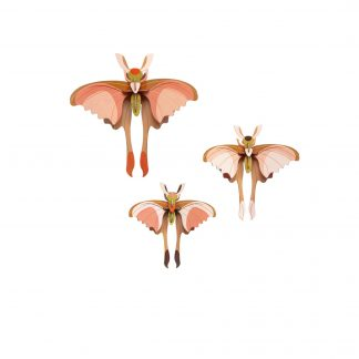 Studio Roof Wall Decoration Puzzle Comet Butterflies Set of 3
