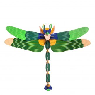 Studio Roof Wall Decoration Puzzle Giant Dragonfly Green