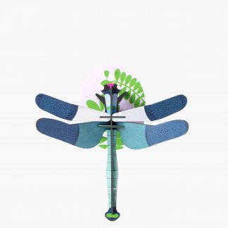 Studio Roof Wall Decoration Puzzle Blue Dragonfly
