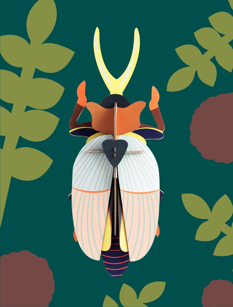 Studio Roof Wall Decoration Puzzle Rhinoceros Beetle