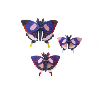 Studio Roof Wall Decoration Puzzle Swallowtail Butterflies Set of 3