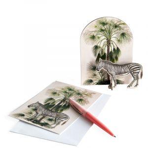 Studio Roof Pop Out Cards Tropical Zebra