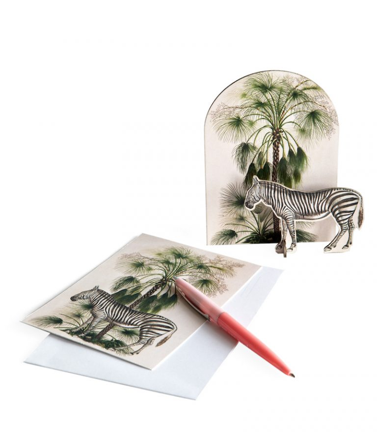 Studio Roof Pop Out Cards Tropical Zebra