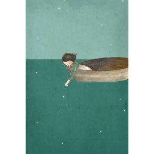 Michelle Pleasance Fishing for Stars Art Print