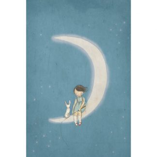 Michelle Pleasance Boy on the Moon Art Print