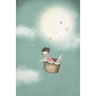 Michelle Pleasance My Moon Balloon Art Print
