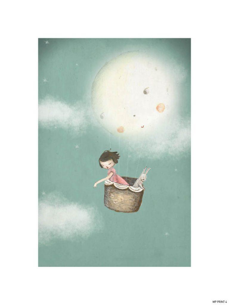 Michelle Pleasance My Moon Balloon Art Print