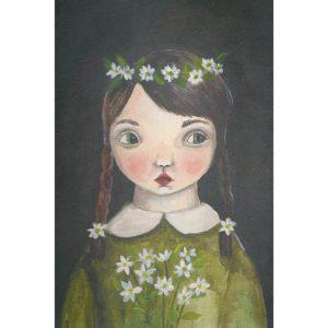 Michelle Pleasance Flower Child Art Print