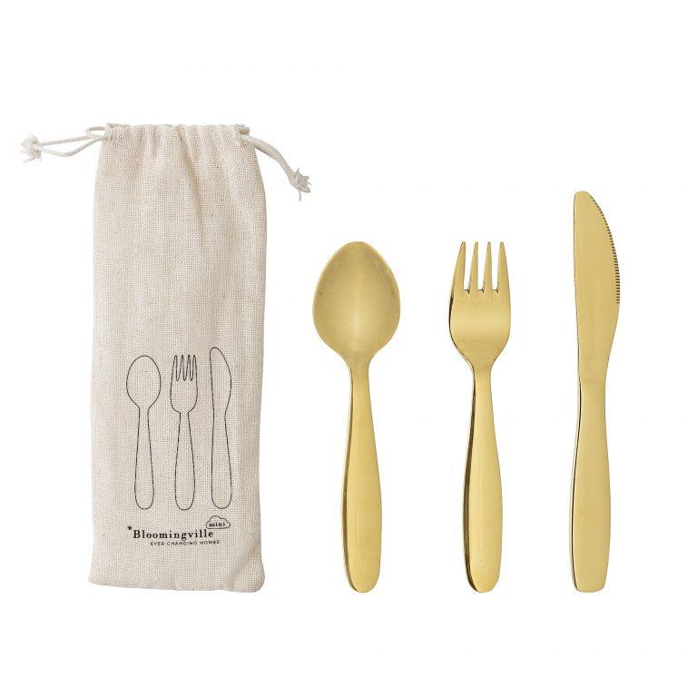 Bloomingville Mini Hazha Cutlery Stainless Steel Gold