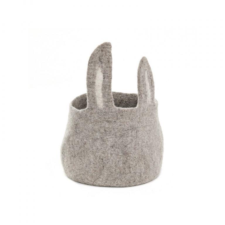 Muskhane Pasu Basket Bunny Light Stone