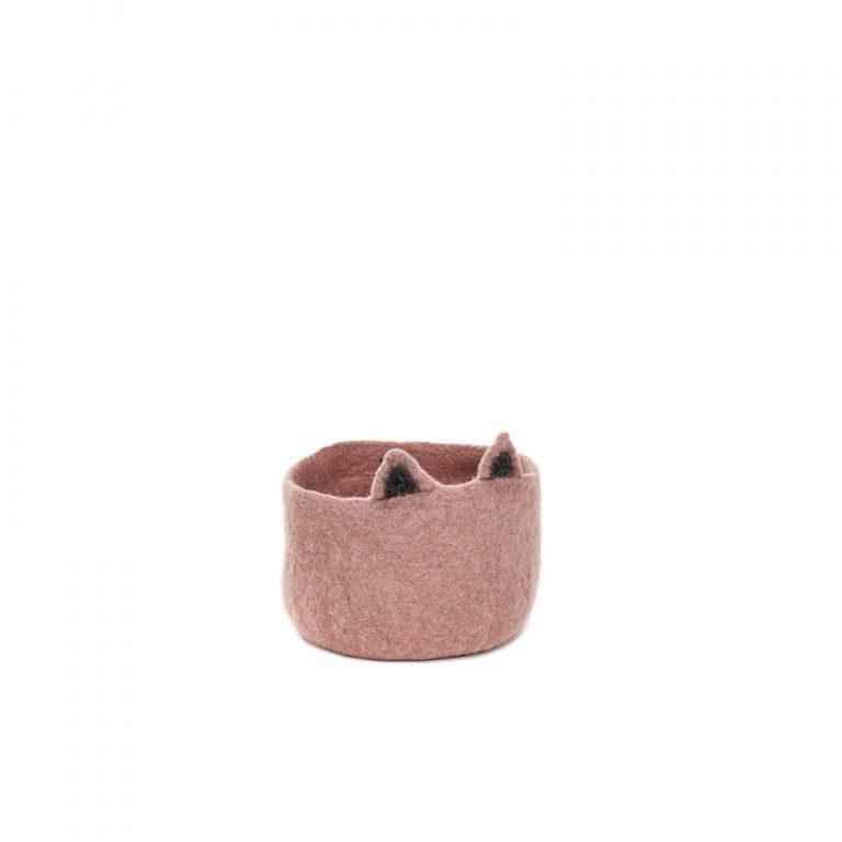 Muskhane Pasu Basket Kitty Quartz Pink