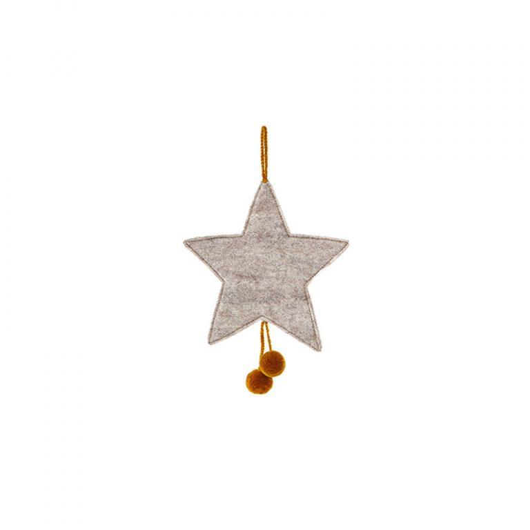 Muskhane Star Pompom Light Stone Pollen