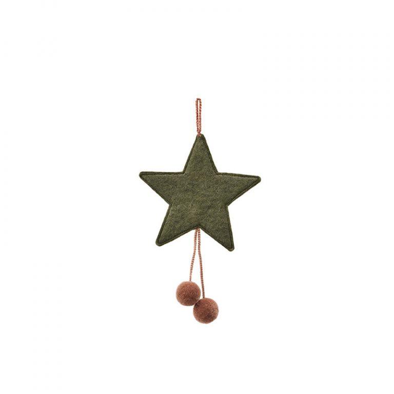Muskhane Star Pompom Mineral Green Quartz Pink