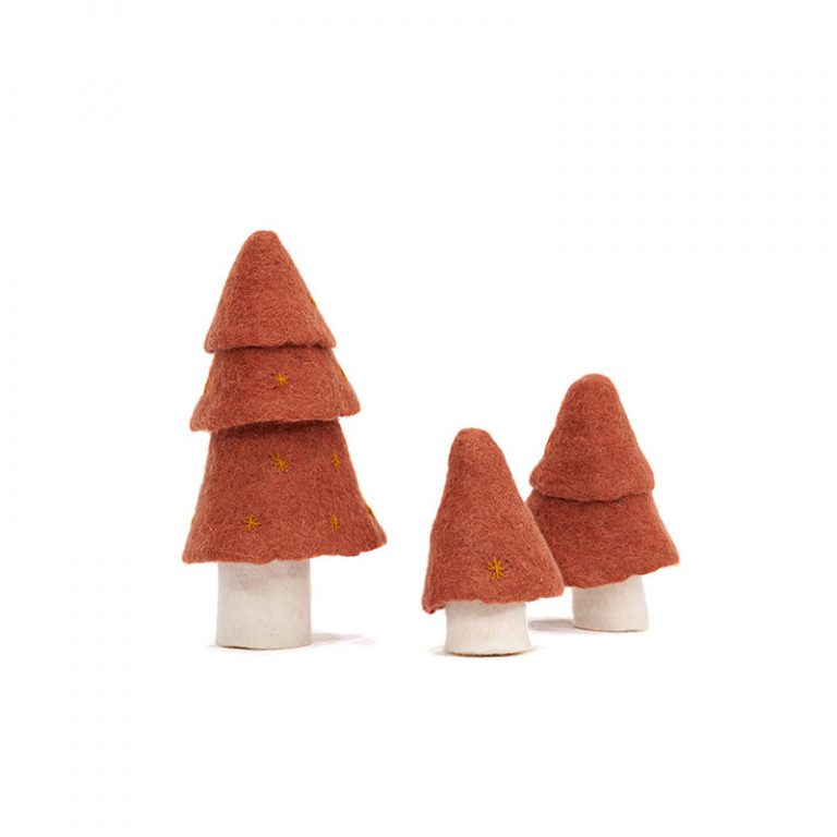 Muskhane Christmas Tree Coral Set of 3