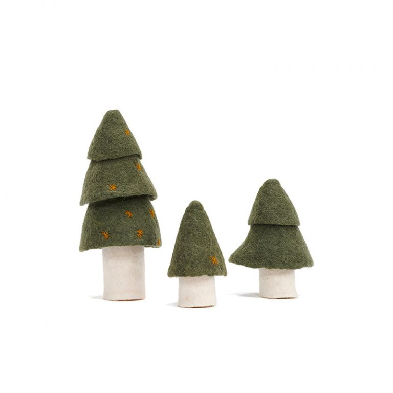 Muskhane Christmas Tree Mineral Green Set of 3
