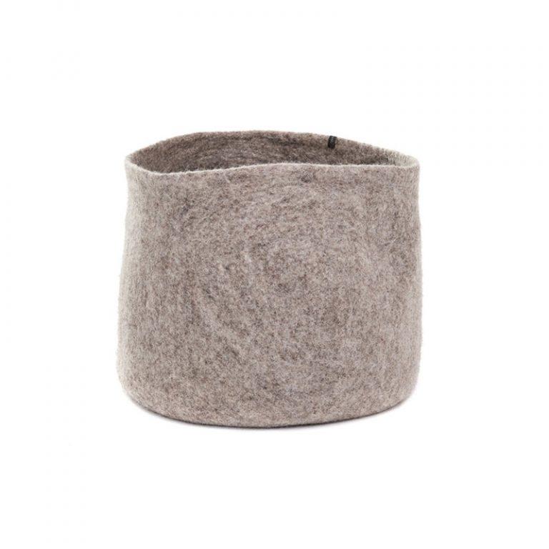 Muskhane Calabash Storage Basket Light Stone