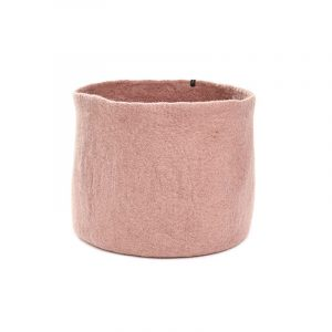 Muskhane Calabash Storage Basket Quartz Pink