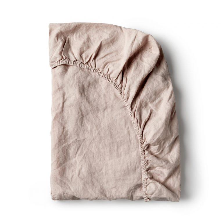 Minimrkt French Flax Linen Fitted Sheet Primrose