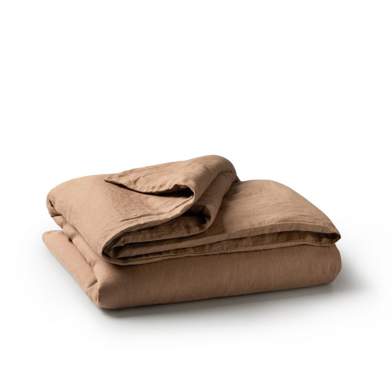 Minimrkt French Flax Linen Duvet Cover Chestnut