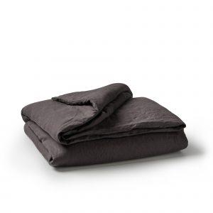 Minimrkt French Flax Linen Duvet Cover Charcoal