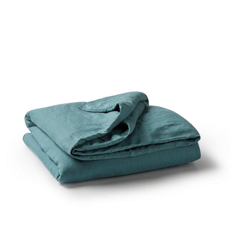Minimrkt French Flax Linen Duvet Cover Dusty Blue