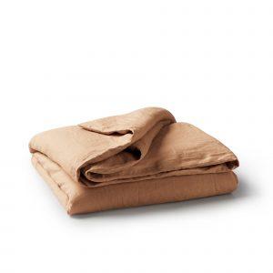 Minimrkt French Flax Linen Duvet Cover Dusty Peach