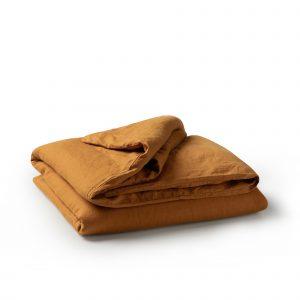 Minimrkt French Flax Linen Duvet Cover Mustard