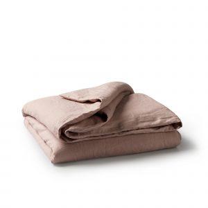 Minimrkt French Flax Linen Duvet Cover Rose