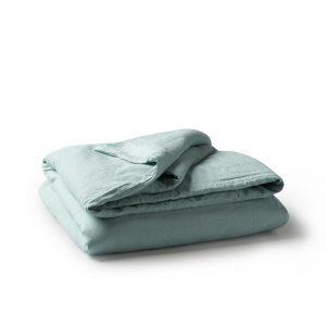 Minimrkt French Flax Linen Duvet Cover Sea Foam