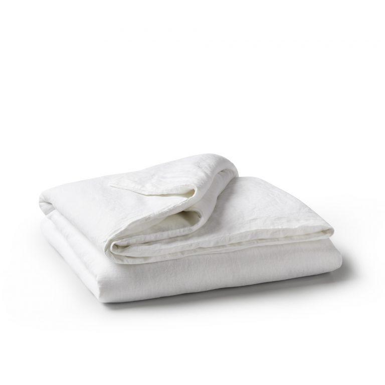 Minimrkt French Flax Linen Duvet Cover White
