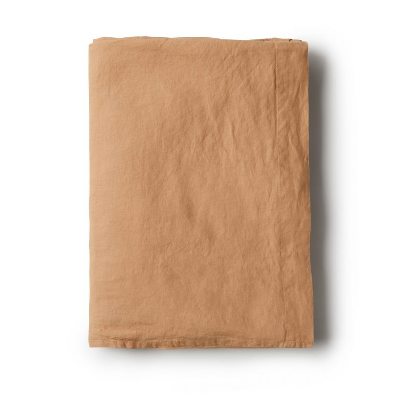 Minimrkt French Flax Linen Flat Sheet Dusty Peach
