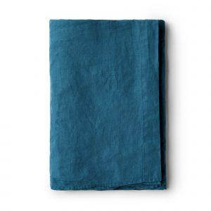 Minimrkt French Flax Linen Flat Sheet Legion Blue
