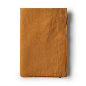 Minimrkt French Flax Linen Flat Sheet Mustard